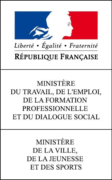 Logo Ministère du Travail, de l'Emploi, de la Formation Professionnelle et du Dialogue Social